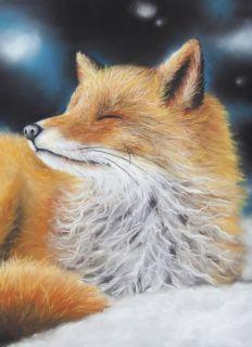 Почтовая открытка Лиса в ночи