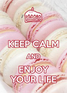 Почтовая открытка KEEP CALM and enjoy your life
