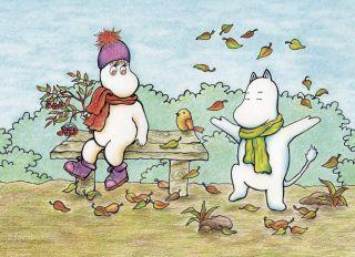 Почтовая открытка Осенние забавы