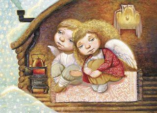 Почтовая открытка Домашний очаг