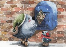 Почтовая открытка Птички
