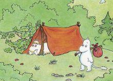 Почтовая открытка Муми-тролли на пикнике