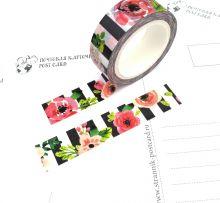 """Почтовая открытка Бумажный скотч """"Цветы"""""""
