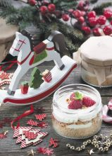 Почтовая открытка Праздничный малиновый десерт