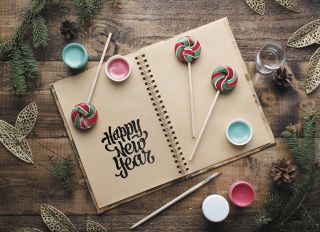 Почтовая открытка Новогодний этюд