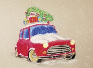 Почтовая открытка Едет, едет Новый год